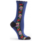 Womens Nordic Stripe Sock - Navy
