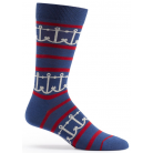 Mens Interlocking Anchors Sock - Navy