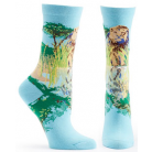 Ozone Endangered Cats Lion Sock