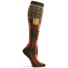Ozone Laith Plaid Knee High Sock - Khaki