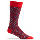 Mens Crescent Waves Sock - Red
