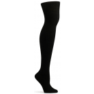 Womens Angora Jambiere Over the Knee Sock - Black
