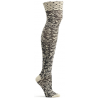 Womens Elizabethan Lace Over the Knee Sock - Beige