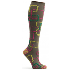 Womens Retro Gaming Knee High Sock - Brown