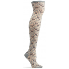 Womens Mermaid Armor Over the Knee Sock - Charcoal