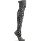 Womens Snow Leopard Over the Knee Sock - Grey