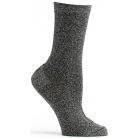 Womens Holiday Lurex Sock - Black