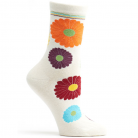 Womens Mini Flower Power Sock - Ecru