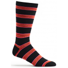 Ozone Mens Space Dye Stripe Sock - Black